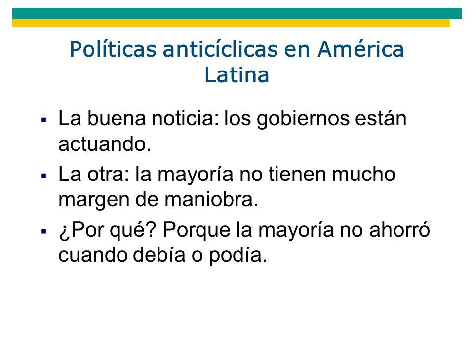 Políticas anticíclicas en América Latina