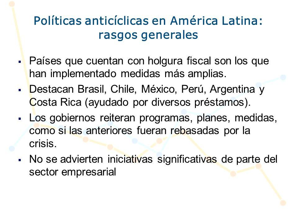 Políticas anticíclicas en América Latina: rasgos generales