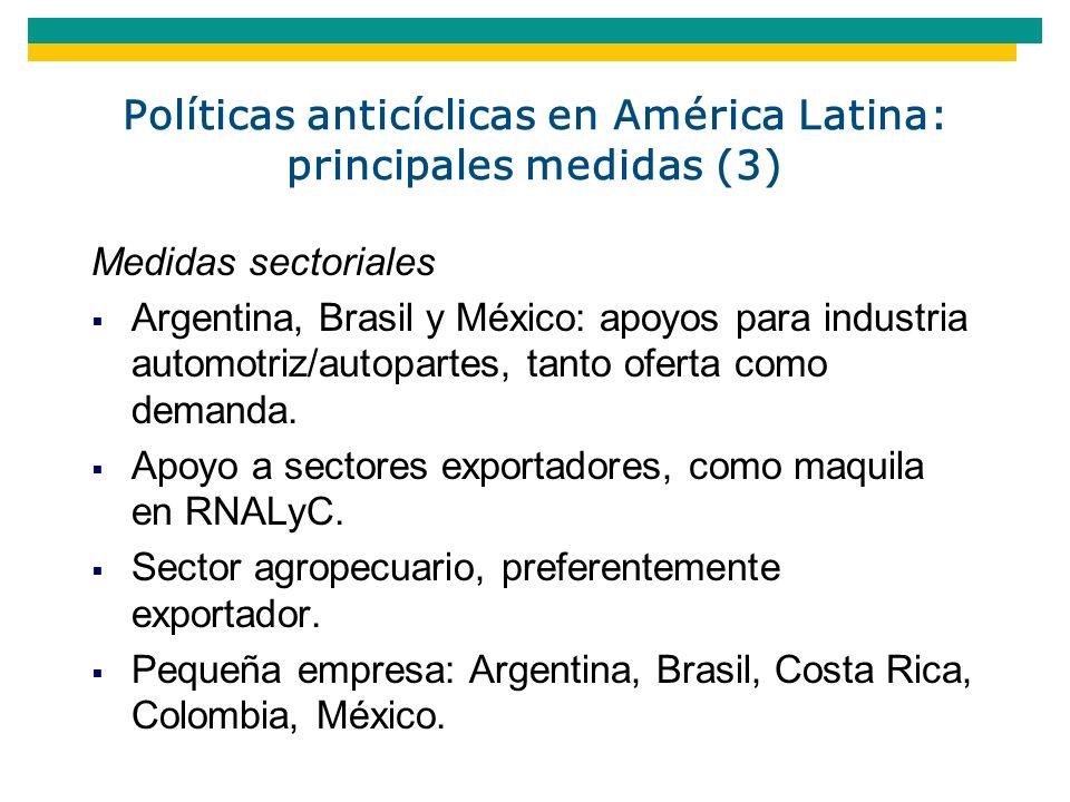 Políticas anticíclicas en América Latina: principales medidas (3)