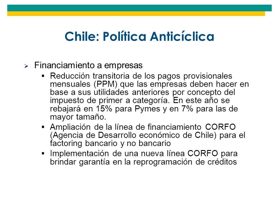 Chile: Política Anticíclica