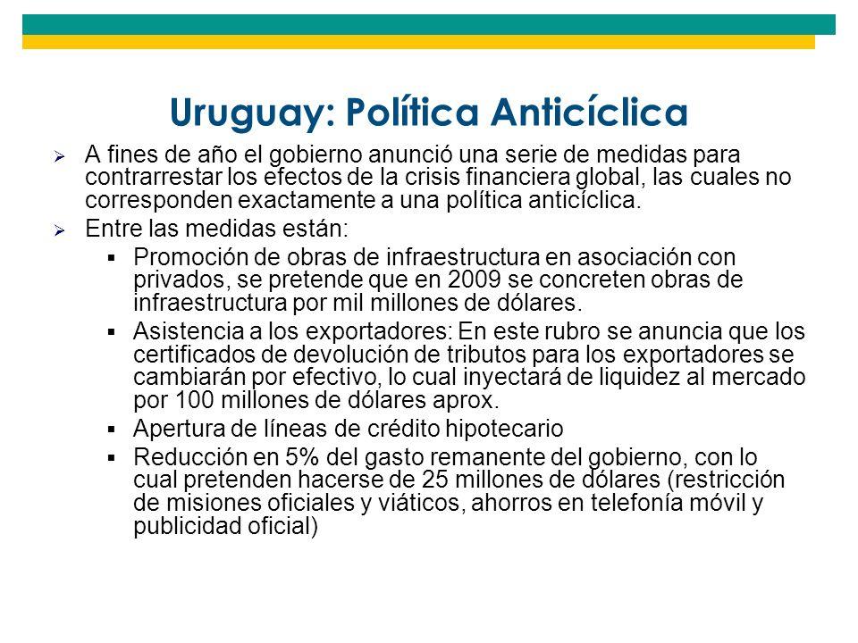 Uruguay: Política Anticíclica
