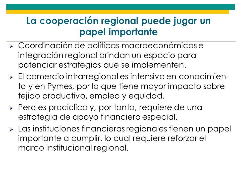 La cooperación regional puede jugar un papel importante