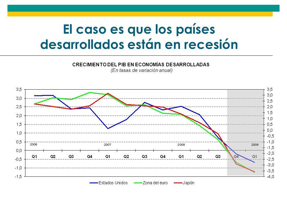 El caso es que los países desarrollados están en recesión