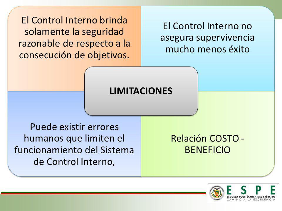 El Control Interno no asegura supervivencia mucho menos éxito