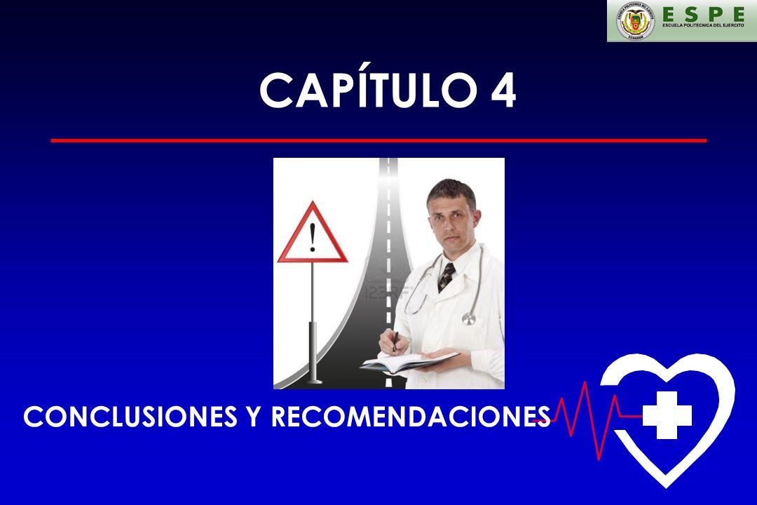 CAPÍTULO 4 CONCLUSIONES Y RECOMENDACIONES