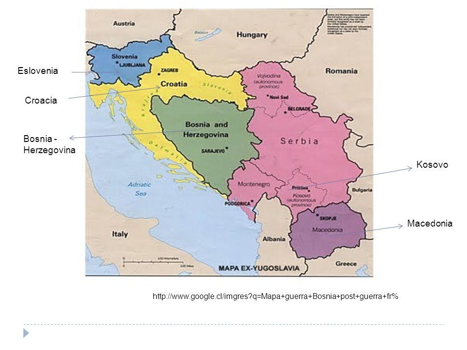 Eslovenia Croacia Bosnia -Herzegovina Kosovo Macedonia