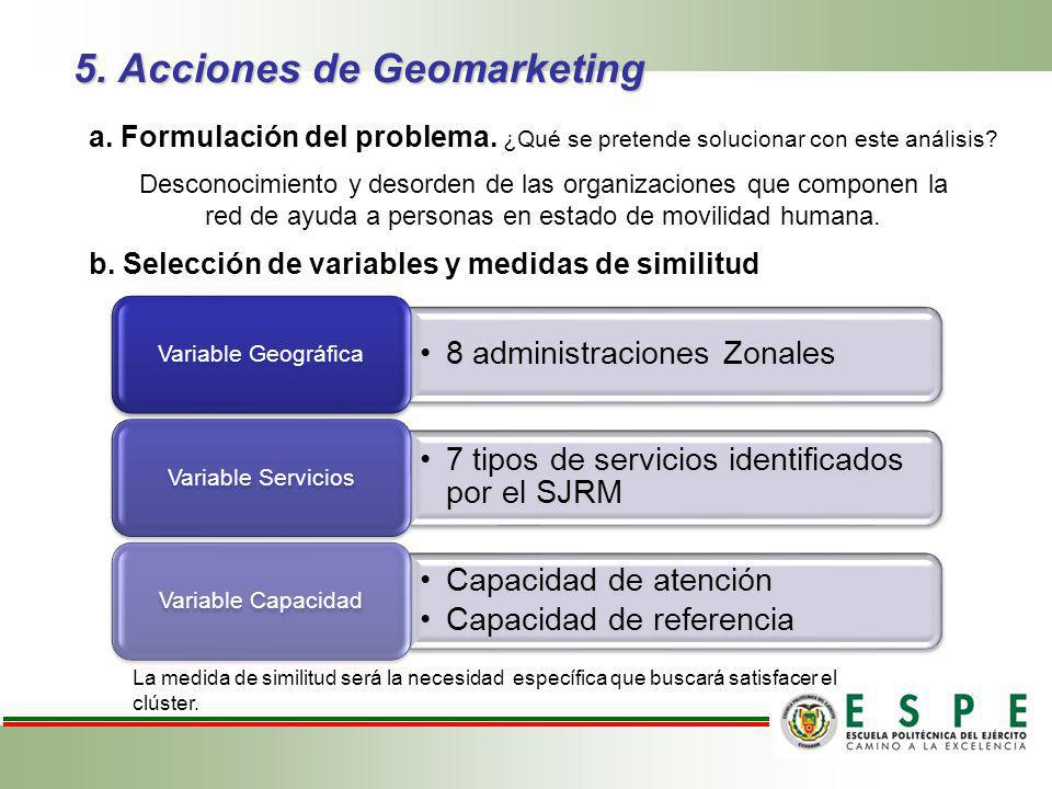 5. Acciones de Geomarketing
