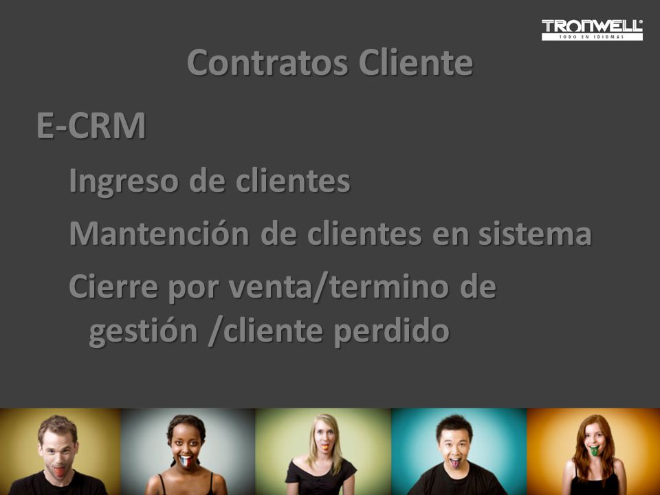 Contratos Cliente E-CRM Ingreso de clientes
