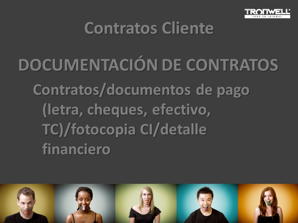 DOCUMENTACIÓN DE CONTRATOS