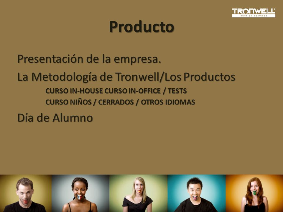 Producto Presentación de la empresa.