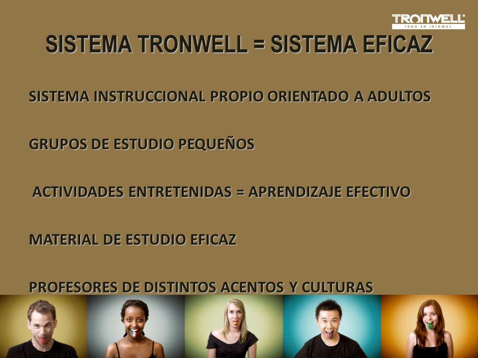 SISTEMA TRONWELL = SISTEMA EFICAZ
