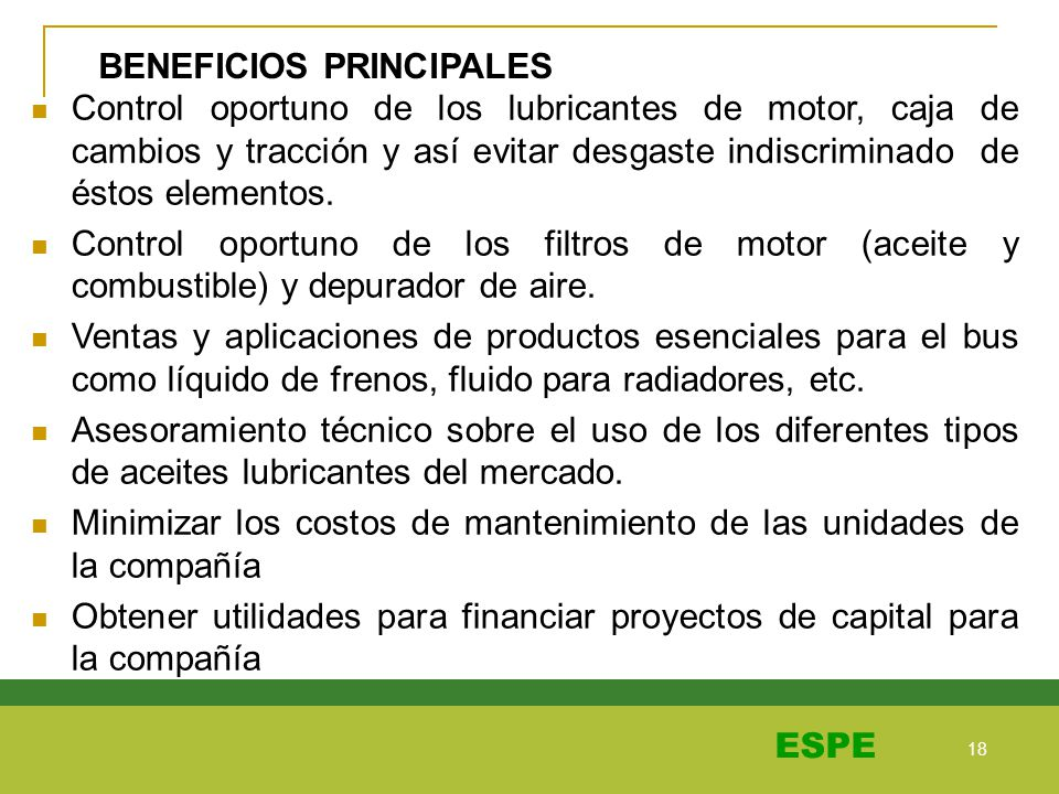 BENEFICIOS PRINCIPALES
