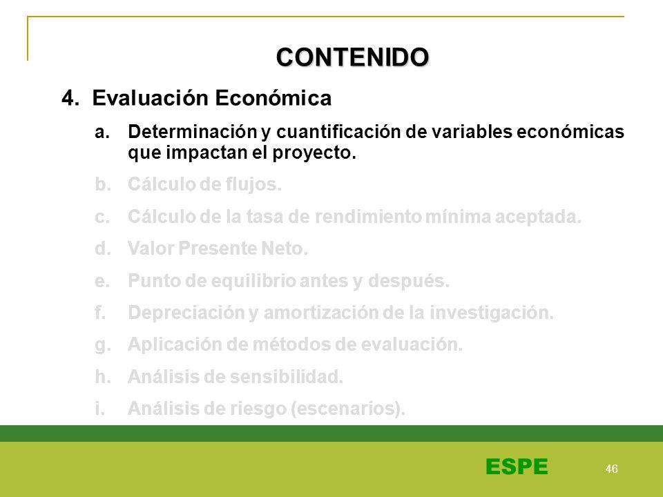 CONTENIDO 4. Evaluación Económica