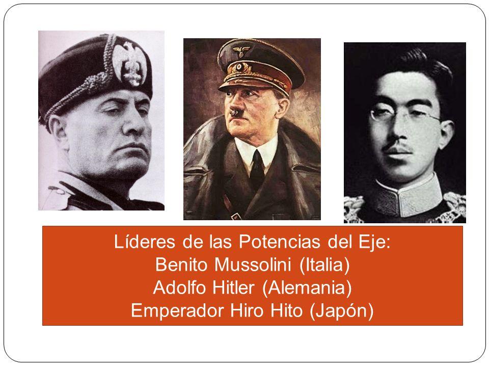 Líderes de las Potencias del Eje: Benito Mussolini (Italia)