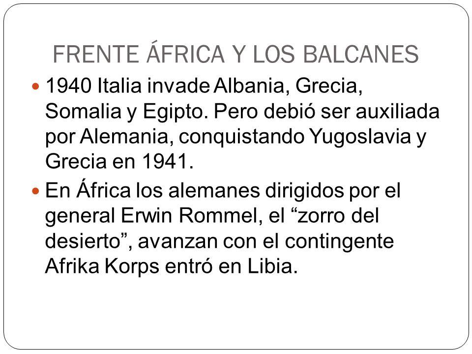 FRENTE ÁFRICA Y LOS BALCANES