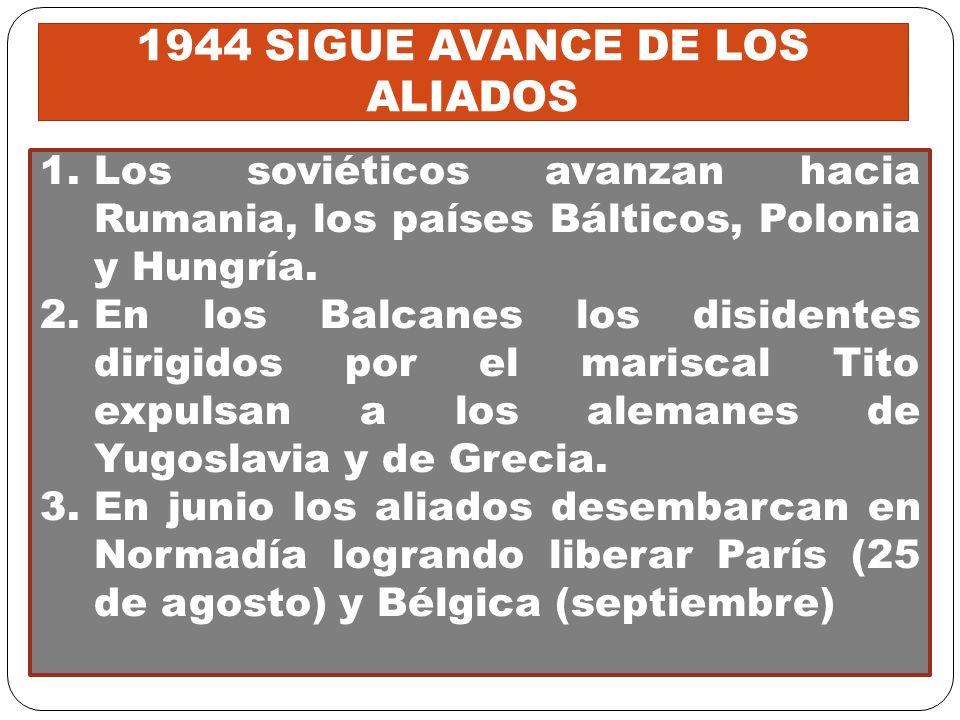 1944 SIGUE AVANCE DE LOS ALIADOS