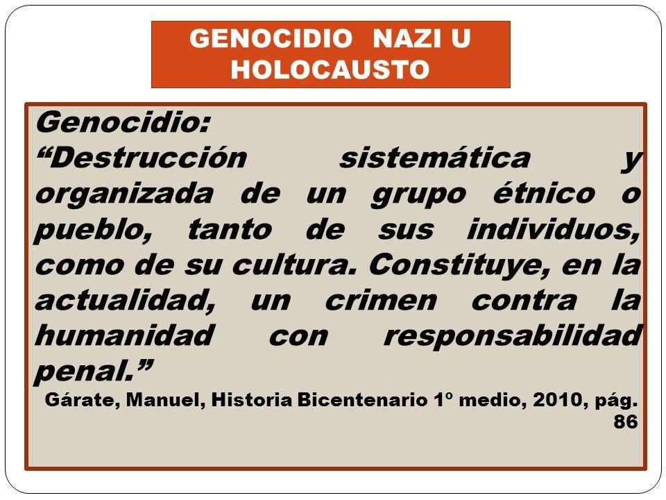 GENOCIDIO NAZI U HOLOCAUSTO
