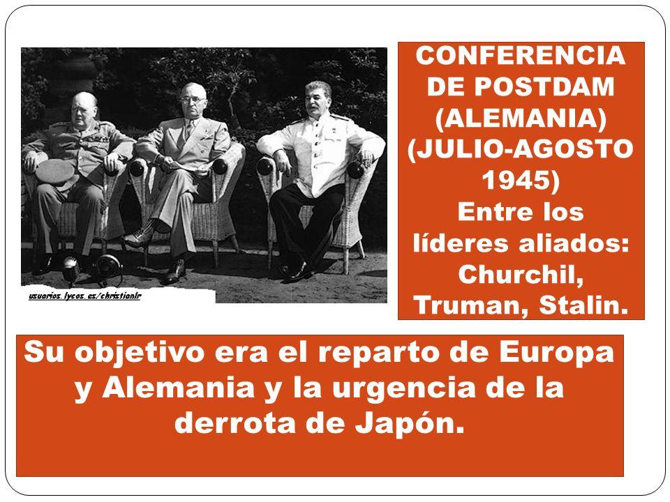 CONFERENCIA DE POSTDAM (ALEMANIA) (JULIO-AGOSTO 1945)