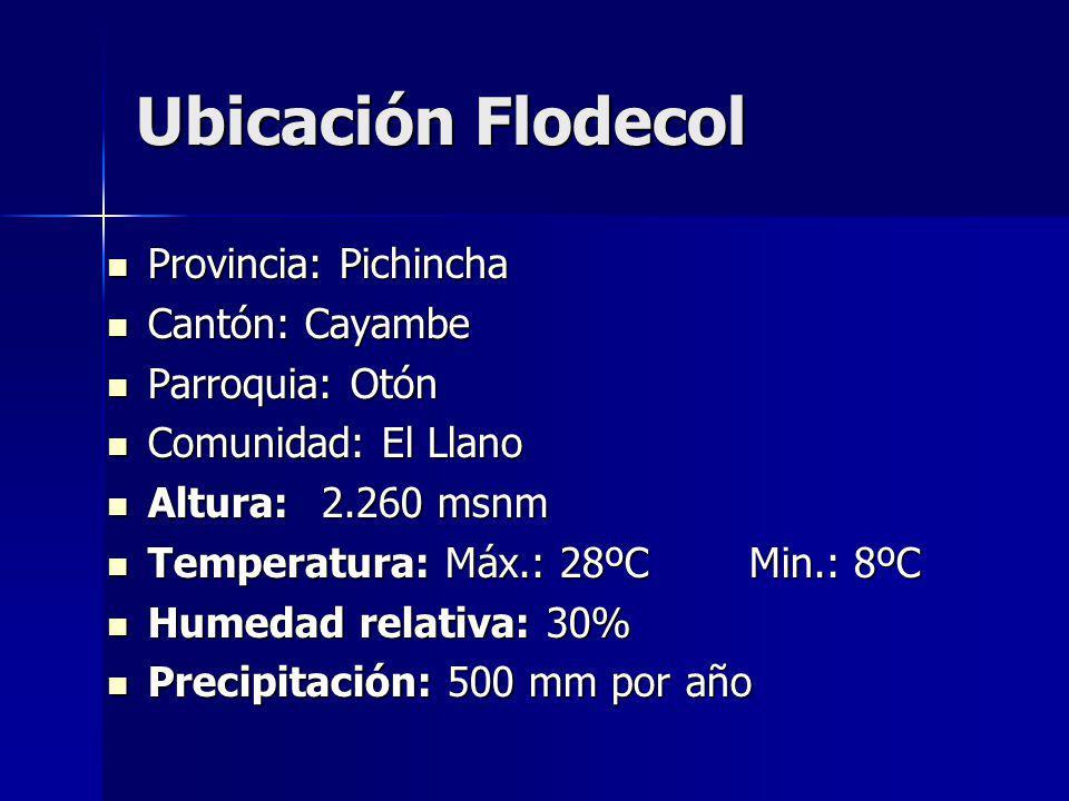 Ubicación Flodecol Provincia: Pichincha Cantón: Cayambe