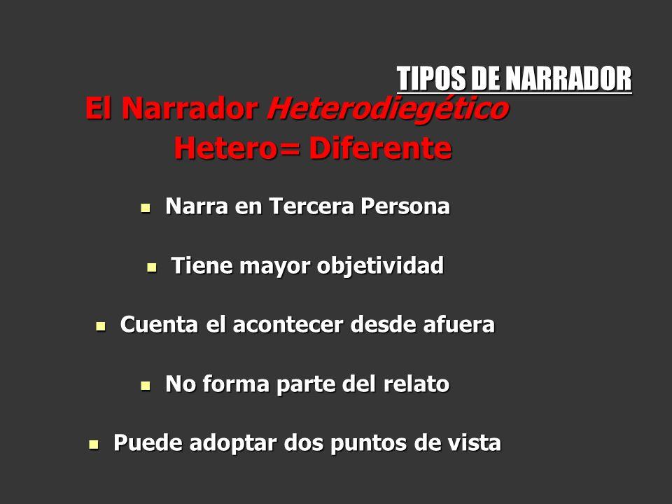 El Narrador Heterodiegético Hetero= Diferente