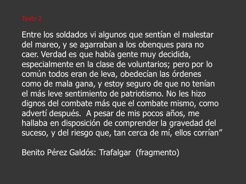 Benito Pérez Galdós: Trafalgar (fragmento)