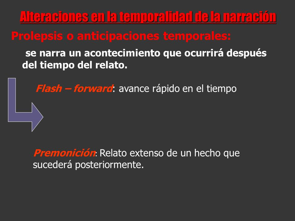 Alteraciones en la temporalidad de la narración