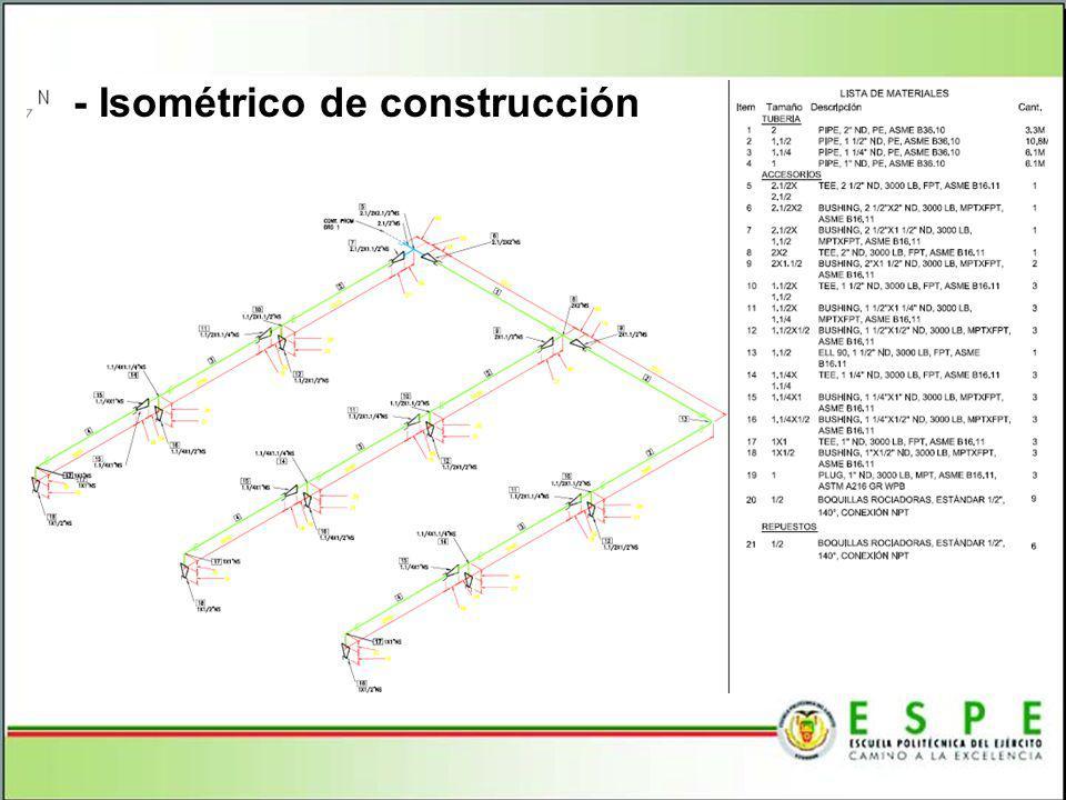 - Isométrico de construcción
