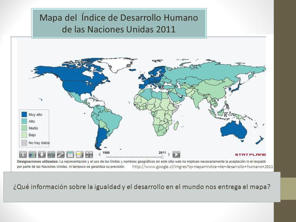 Mapa del Índice de Desarrollo Humano de las Naciones Unidas 2011