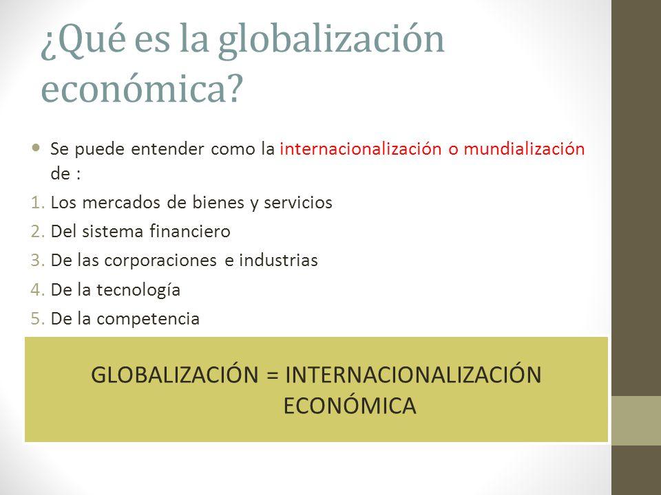 ¿Qué es la globalización económica