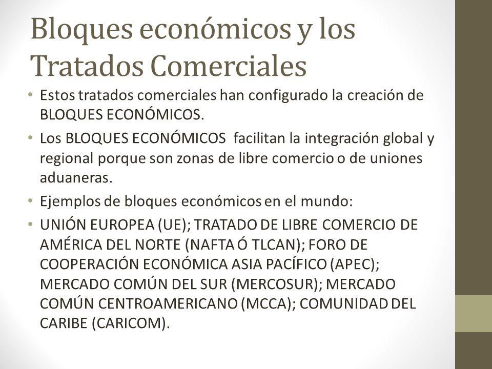 Bloques económicos y los Tratados Comerciales