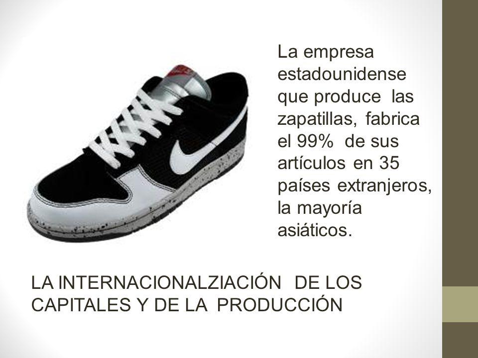 La empresa estadounidense que produce las zapatillas, fabrica el 99% de sus artículos en 35 países extranjeros, la mayoría asiáticos.