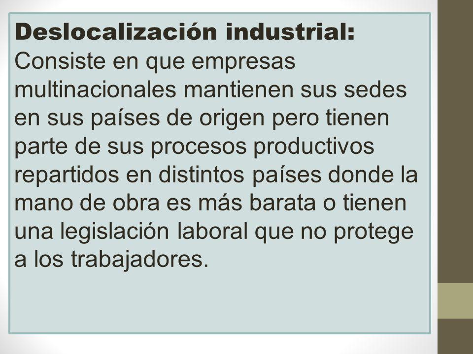 Deslocalización industrial:
