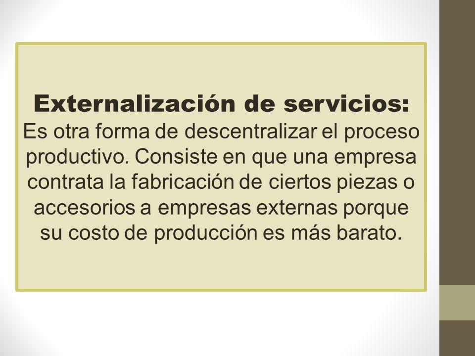 Externalización de servicios: