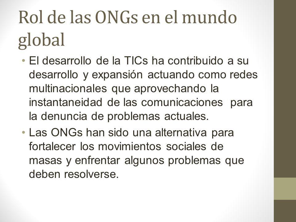 Rol de las ONGs en el mundo global