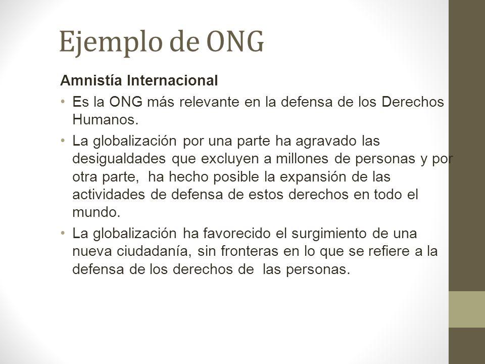 Ejemplo de ONG Amnistía Internacional