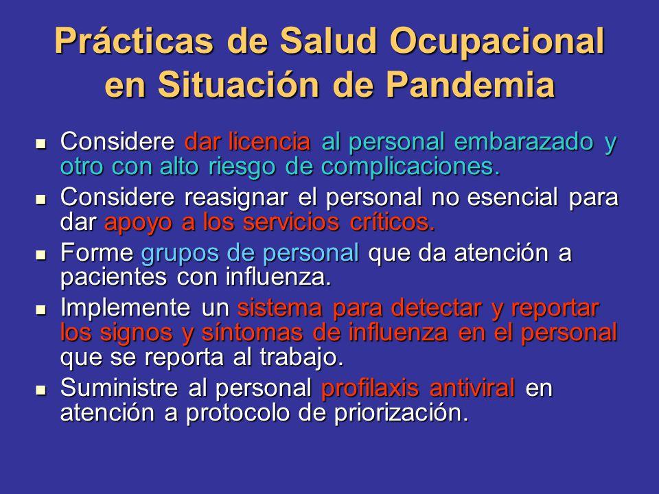 Prácticas de Salud Ocupacional en Situación de Pandemia