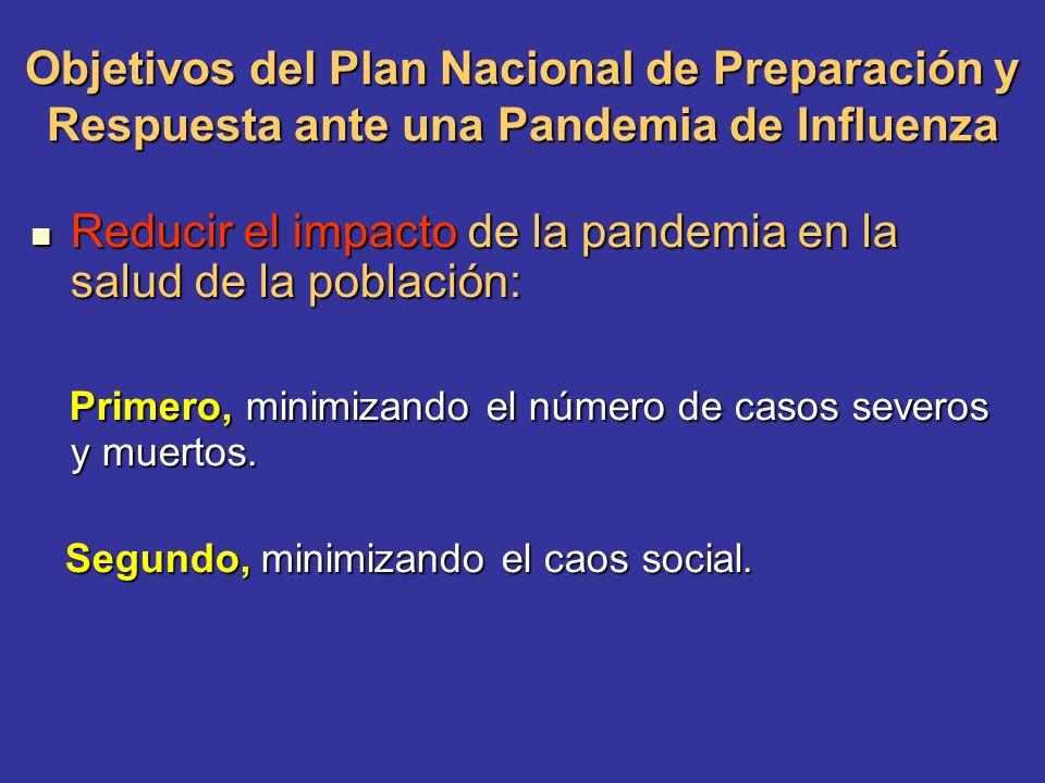Reducir el impacto de la pandemia en la salud de la población: