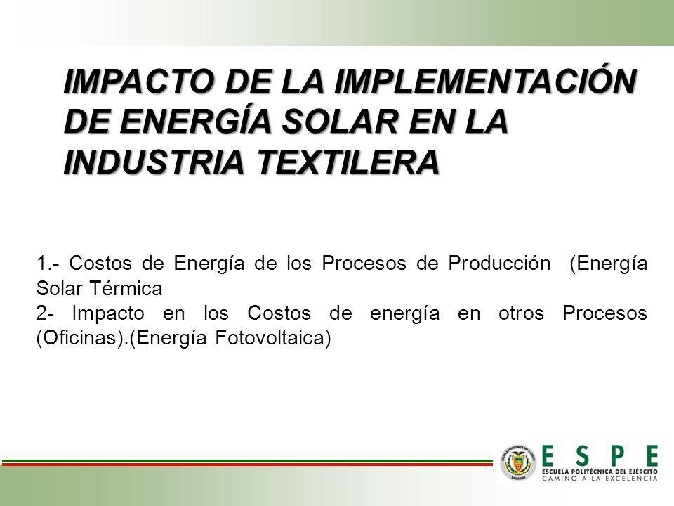IMPACTO DE LA IMPLEMENTACIÓN DE ENERGÍA SOLAR EN LA INDUSTRIA TEXTILERA