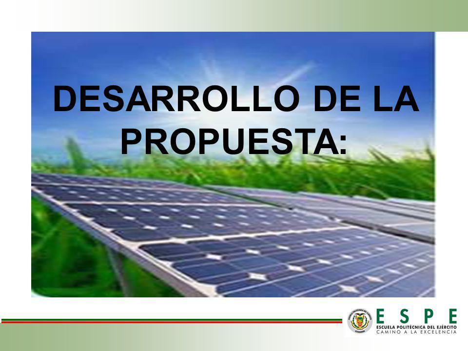 DESARROLLO DE LA PROPUESTA: