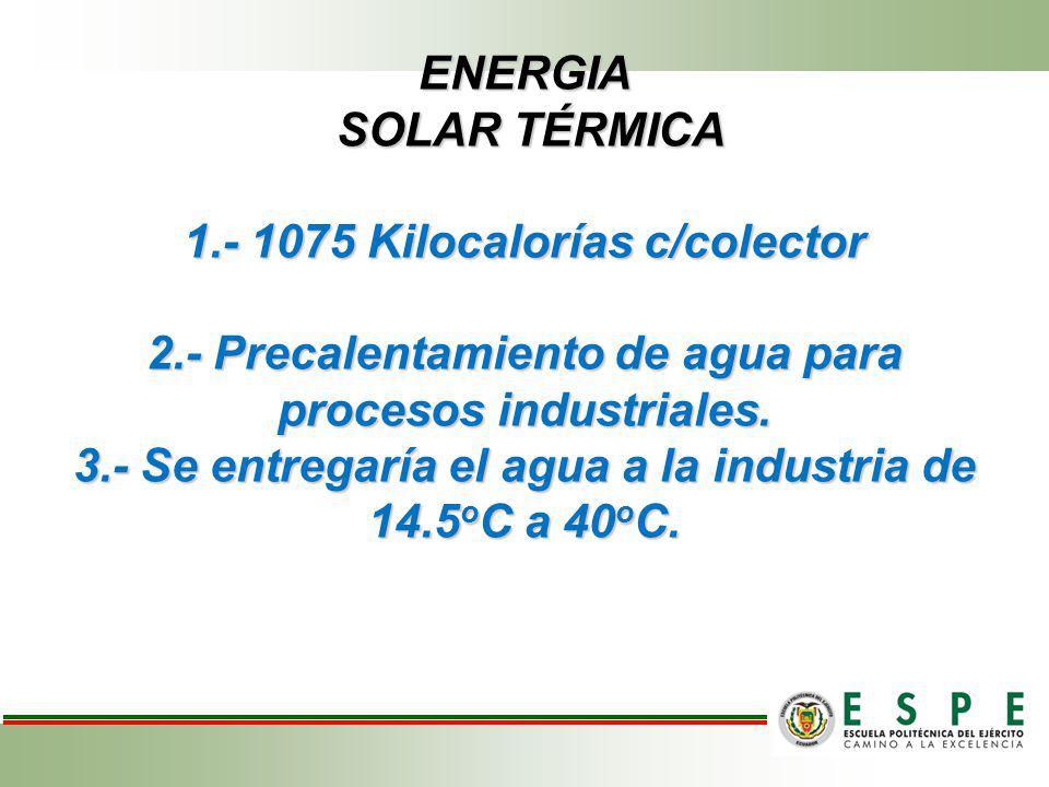 ENERGIA SOLAR TÉRMICA 1. - 1075 Kilocalorías c/colector 2