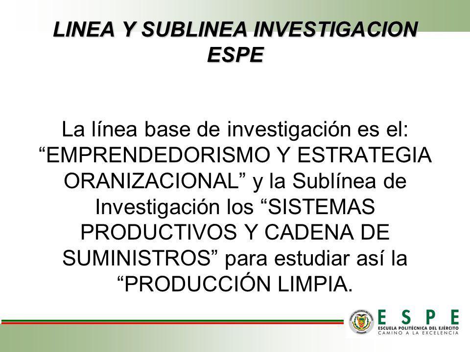 LINEA Y SUBLINEA INVESTIGACION ESPE