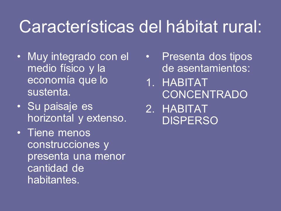 Características del hábitat rural: