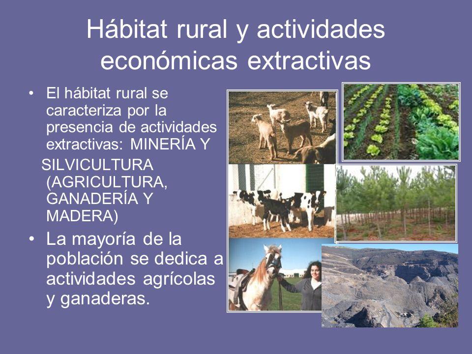 Hábitat rural y actividades económicas extractivas