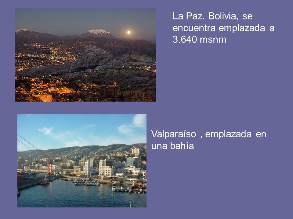La Paz. Bolivia, se encuentra emplazada a 3.640 msnm