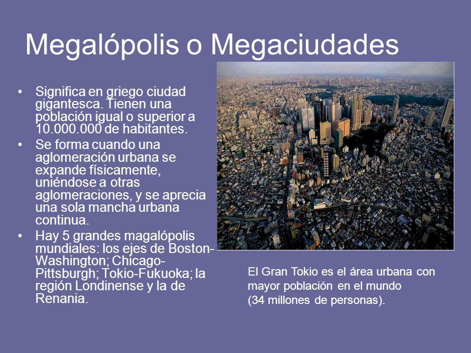 Megalópolis o Megaciudades