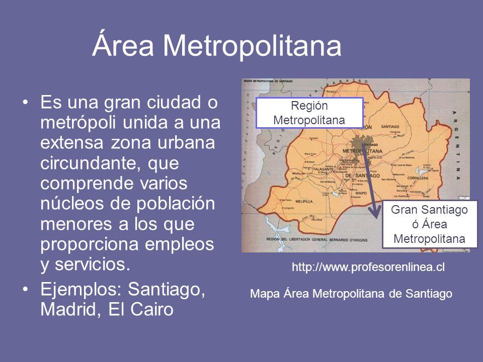 Gran Santiago ó Área Metropolitana