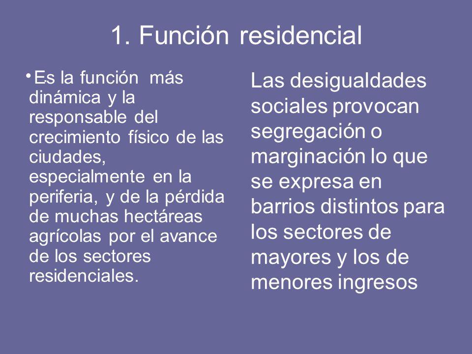 1. Función residencial .