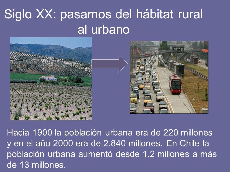 Siglo XX: pasamos del hábitat rural al urbano