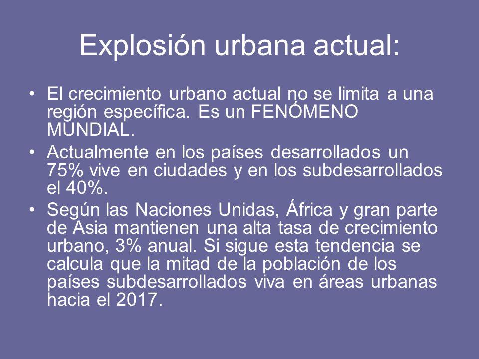 Explosión urbana actual: