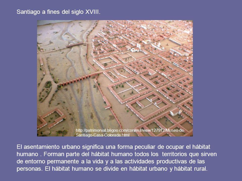 Santiago a fines del siglo XVIII.